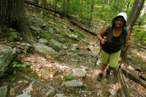 Negress on the trail