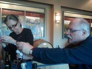 Blending the 2008 vintage at Conn Creek