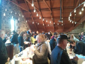 Wine writers tasting Pinot Noir at the Napa Perspective tasting